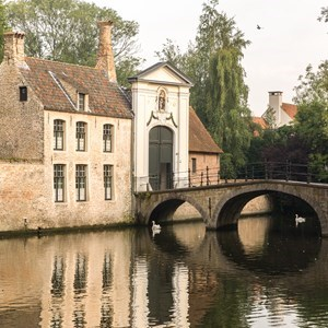 One of the many bridges in Bruges, Belgium